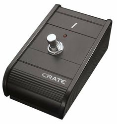 Crate Single Button Metal Crate Footswitch by Crate. $19.59. Crate, a division of Loud technologies, Inc has been one of the top manufacturers of high quality, rugged and innovative instrument amplification products since its introduction the 1970's.  Among the most regarded and prolific brands in acoustic and electric guitar, keyboard and bass amplification, today's Crate range of products retains its focus on bringing value, reliability and advancement to musicians worlwide.