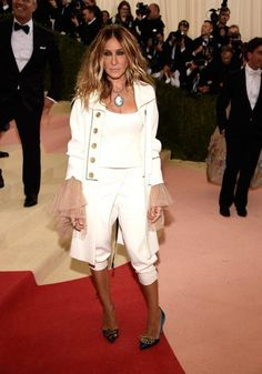 Sarah Jessica Parker in Monse at the Met Gala. (Photo: Getty Images)