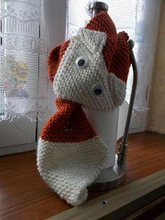 sciarpa a volpe in lana fatto a mano