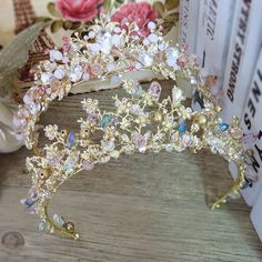 Brides Hair Jewelry Baroque Handmade Beaded Luxury Pink Gold Crowns Crystal Tiara Sweet Princess Tiaras Wedding Hair Accessories     Tag a friend who would love this!     FREE Shipping Worldwide     Get it here ---> http://jewelry-steals.com/products/brides-hair-jewelry-baroque-handmade-beaded-luxury-pink-gold-crowns-crystal-tiara-sweet-princess-tiaras-wedding-hair-accessories/    #red_bottom_shoes