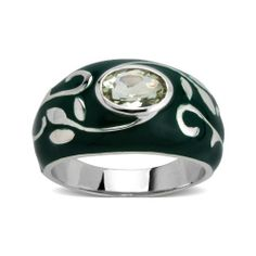 Sterling Silver Green Amethyst with Green Enamel Women's Ring Amazon Curated Collection. $42.00. Gemstones may have been treated to improve their appearance or durability and may require special care. The natural properties and composition of mined gemstones define the unique beauty of each piece. The image may show slight differences to the actual stone in color and texture