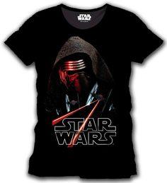 Camiseta Kylo Ren Space. Star Wars Episodio VII Estupenda camiseta con el título Kylo Ren Space, perteneciente al film Star Wars Episodio VII: El Despertar de la Fuerza, 100% oficial, licenciada y fabricada en material 100% algodón.