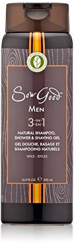 Introducing Sow Good 3in1 Natural Shampoo Shower and Shaving Gel for Men Spice 169 Fluid Ounce. Great product and follow us for more updates!