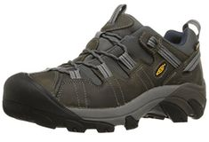 KEEN Men's Targhee II Hiking Shoe,Gargoyle/Midnight M US - Targhee II-M - Hiking & Trekking - Here's a waterproof hiking boot that offers four-wheel-drive performance for your feet. It's designed to keep your feet dry and let them breathe, and Best Hiking Boots, Men Hiking, Hiking Gear, Hiking Shoes For Men, Hiking Socks, Camping Gear, Camping Hacks, Disc Golf Shoes, Thing 1
