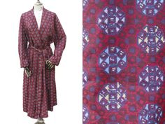 Tootal Mens Red Dressing Gown • 70s House Coat • Smoking Jacket • Mens Vintage Bath Robe • Mens Gift • Hipster Gentlemen • Groom Gift. M/L by Venelle on Etsy