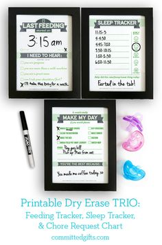 Make this handy baby shower gift that supports mom for years to come! 3 navy blue inserts to keep moms sanity intact for a lifetime! Includes digital files of the popular Newborn Feeding Tracker, Sleep Tracker, and Chore Request Chart. As baby grows, si Baby Kind, Mom And Baby, Vogue Kids, Baby Feeding Chart, Baby Chart, Feeding Schedule For Baby, After Baby, Before Baby, Baby Arrival
