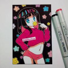 Done!!! #traditional #animestyle #kawaii #moe #cute #beauty #kompito #instadraw #instaanime #instaart
