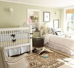 Ideas de Dormitorios Compartidos:  Papis y Bebé