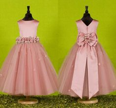 Korean children Girl - Custom Made Beautiful Pink Flower Girls Dresses for Weddings 2016 Pretty Formal Girls Gowns Cute Satin Puffy Tulle Pageant Dress Spring Flower Girls, Cute Flower Girl Dresses, Tulle Flower Girl, Cute Dresses, Flower Ball, Party Dresses, Wedding Dresses, Bow Wedding, Wedding Blush