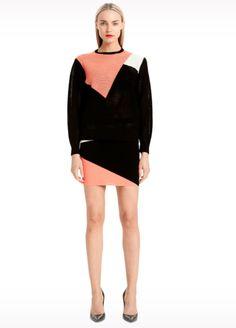 Jessie - A Fashion Boutique - Torn - Mali Colorblock Skirt - Coral  / Black, $194.00 (http://www.jessieboutique.com/products/torn-mali-colorblock-skirt-coral-black.html)