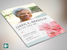 Magnolia Funeral Program Publisher Template by Godserv on Etsy