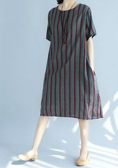 Women loose fit plus over size pocket dress stripes tunic casual fashion trendy #unbranded #dress
