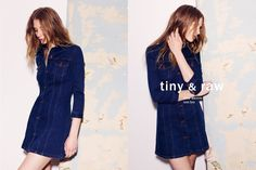 Zara shows how to wear denim this Spring - A denim mini dress is offered for spring