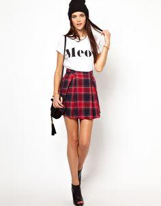 Glamorous Plaid Skirt