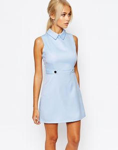 Fashion+Union+Aline+Shift+Dress+with+Collar