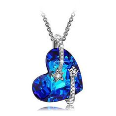 """LadyColour Valentines Day Gifts s925 Sterling Silver """"Venus"""" Heart Sapphire P..."""