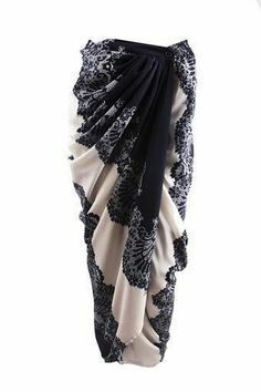 Especially for those who love the tie-knots of the sarong but the ease of the modern skirt. Kebaya Lace, Kebaya Hijab, Batik Kebaya, Kebaya Dress, Batik Dress, Model Rok Kebaya, Model Kebaya Modern, Batik Fashion, Hijab Fashion