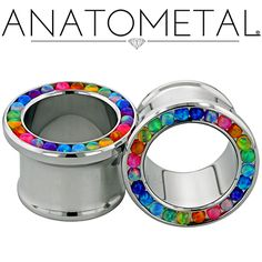 - Gemmed Eyelets - ANATOMETAL - Professional Grade Body Piercing Jewelry