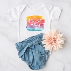 """Baby Body """"Wunschkind 2020"""" - Herzpost Gender Announcements, True Gift, Wish Come True, Baby Party, Baby Bodysuit, Poodle, First Love, Pregnancy, 100 Pure"""
