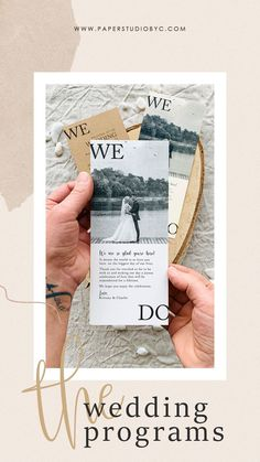 The more involved guests feel in your wedding ceremony, the more likely they are to enjoy themselves. Share the details of your wedding ceremony with your wedding program printed on high-quality paper for a perfect finishing. #weddingprograms #weddingprogram #weddingprogramcard #orderofevent #weddingtimeline #weddingpartycards #preludecards #wedocards #wedo #simpleweddingprograms #rusticweddingprograms #weddingprogramtimeline Rustic Wedding Stationery, Rustic Wedding Programs, Laser Cut Wedding Invitations, Destination Wedding Invitations, Wedding Advice, Wedding Planning Tips, Fall Wedding, Wedding Ceremony, Wedding Timeline