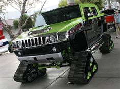 Tracked Hummer Green