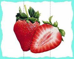 Разрезные пазлы, ягоды Strawberry, About Me Blog, School, Fruits And Veggies, The Fruit, Strawberries