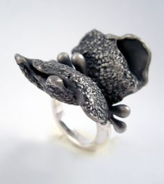 Ring | Karine Rodrigue. Sterling silver using lost wax casting