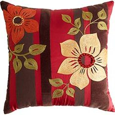 Aari Embroidered Flowers Pillow :)