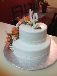 Rear view of Cecile's cake August 2014