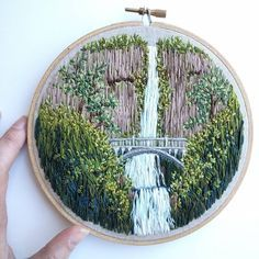 Embroidery Art, nature scene