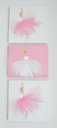 Nursery Decor Nursery Ballerina Art Hand Painted by ShenasiConcept
