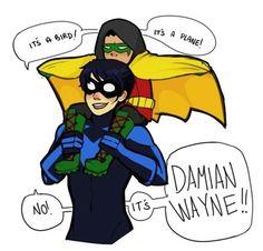 Dick Grayson and Damian Wayne