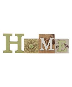Look what I found on #zulily! 'Home' Tabletop Cutout Block #zulilyfinds