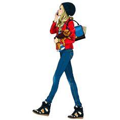 inst_1 Anna, Style, Fashion, Dibujo, Swag, Moda, Stylus, Fashion Styles, Fashion Illustrations