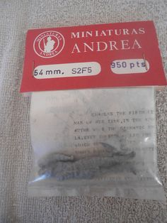 Andrea #1/32 54mm Charles the Fifth 1500-58 White Metal Military Figure #Miniaturas