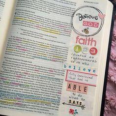 Created by: Debby Schuh - Bible Journaling, Bible Art Journaling. Romans 4