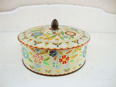 Vintage Decorative Metal Tin