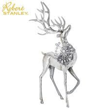 Image result for Silver Snowflake Right Standing Metal Deer