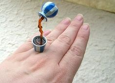 Floating Rings - Getting Playful and Creative With Jewelry is Cheaper than Diamond Bling (GALLERY) Unusual Engagement Rings, Unusual Rings, Vintage Engagement Rings, Vintage Rings, Stylish Rings, Rings Cool, Big Rings, Tourmaline Ring, Handmade Rings