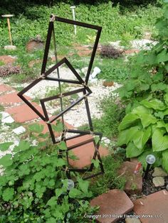 s 17 ways to build a gorgeous garden trellis this summer, gardening, String together picture frames