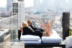A Silver Lining Of A Day Is Talking With A Girlfriend City Life Rooftop