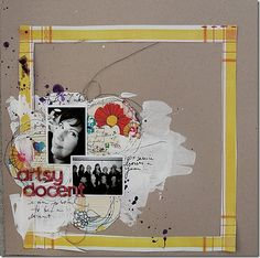 using paint in scrapbooking pages