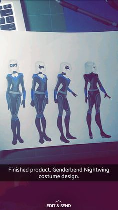 Fem!Nightwing costume design.
