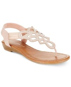 Rampage Carmaxa Flat Thong Sandals