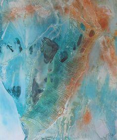 Oceans Deep1 by Olivia Alexander Mixed ~ 120cm x 100cm