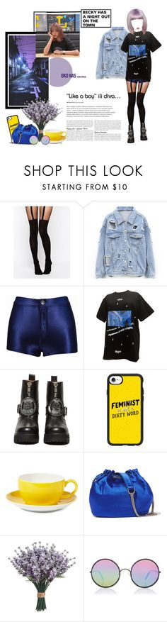 """""""«BECKY» A NIGHT OUT"""" by cw-entertainment ❤ liked on Polyvore featuring ASOS, UNIF, Casetify, Dibbern, Diane Von Furstenberg and Sunday Somewhere"""