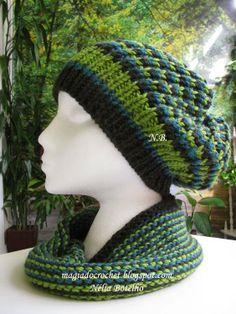 Magia do Crochet: Gola e gorro em tricot e como fazer o ponto