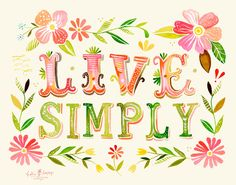 Live Simply horizontal print by thewheatfield on Etsy