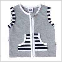 Grey Marle zip vest Spring/Summer 14 Li'l Zippers