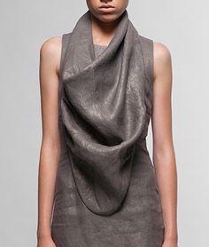 Silver linen scarf